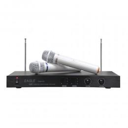 EAGLE P-28 雙頻自動選訊高頻小白無線麥克風輕唱好唱完全不費力